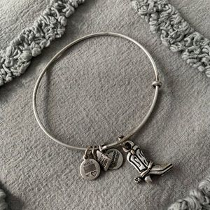 NWOT Alex and Ani Cowboy Boot Charm Bracelet